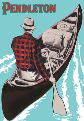 Pendleton Vintage Canoe Poster