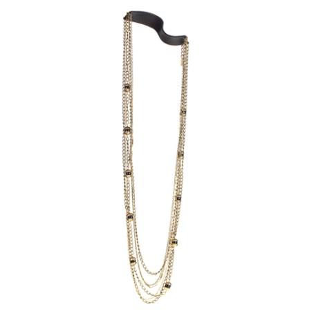 Jenny Bird Leather & Lanterns Necklace