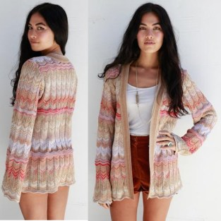 Goddis Desirea belted cardigan in Durango Dust