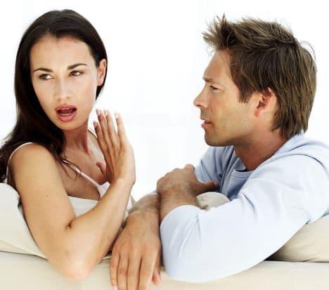 woman saying no to a man