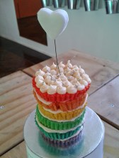 Mini rainbow cake... just because!