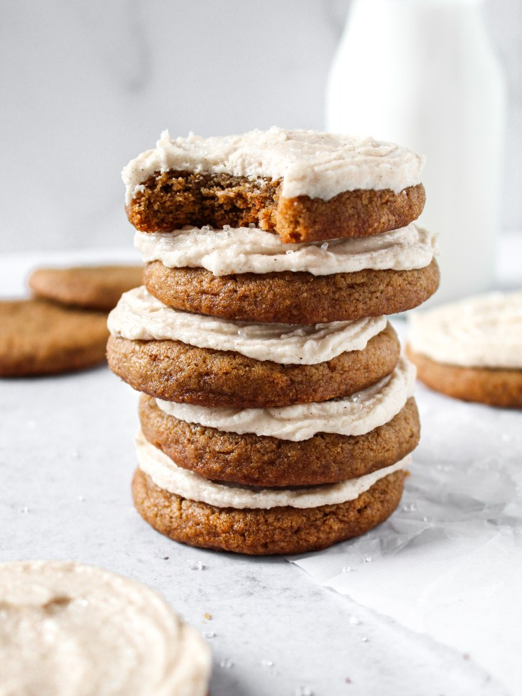 Pumpkin Cookies with Spiced Frosting