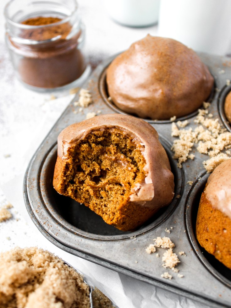 Pumpkin Muffins with Brown Sugar Cinnamon Icing