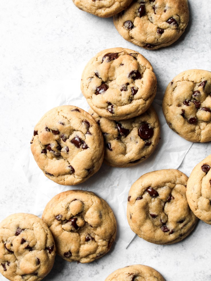 One Bowl No-Chill Chocolate Chip Cookies
