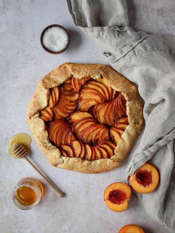 Honey Peach Galette