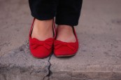 Ballet Flats, Red Bow