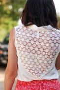 Style Outfit, Cream Lace Back Target Tank Top
