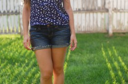 American Eagle Midi Shorts and Floral Top