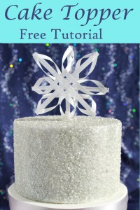 Wafer paper snowflake cake topper tutorial Pin