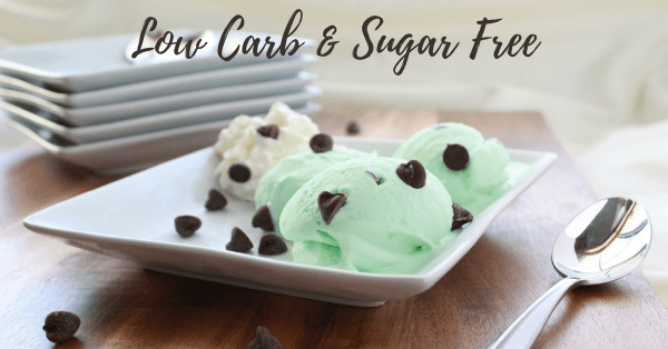 Sugar Free Mint Chocolate Chip Ice Cream
