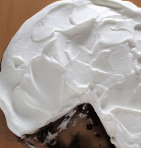 Top of Mocha Cream Pie