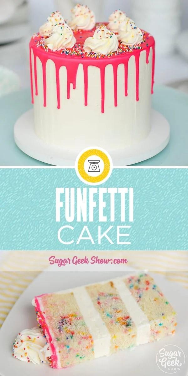 Funfetti Cake Recipe From Scratch Video Tutorial Sugar Geek Show