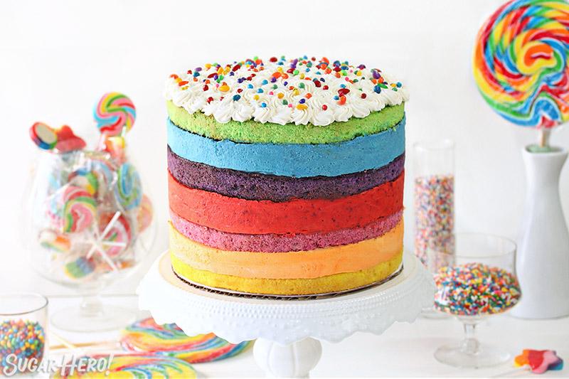 Rainbow Mousse Cake