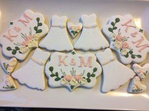 wedding winter sugar cookies royal icing