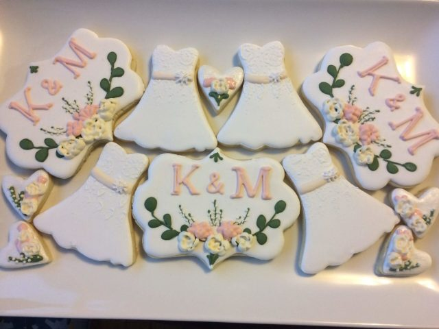 wedding winter sugar cookies royal icing
