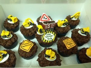 construction cupcakes chocolate fondant construction