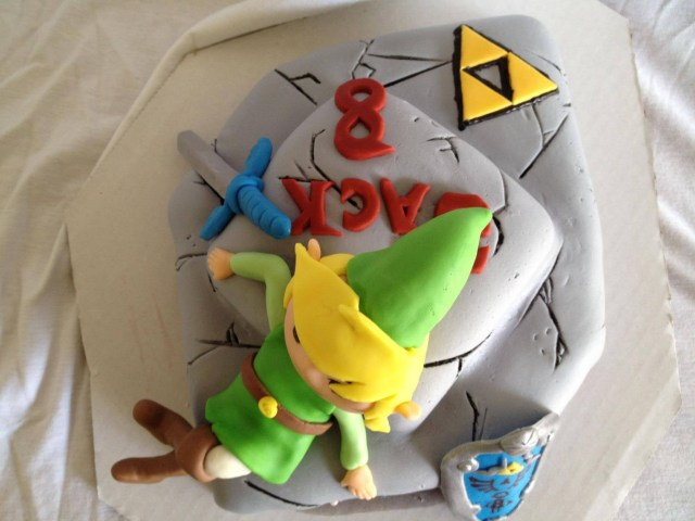 legend of zelda cake above