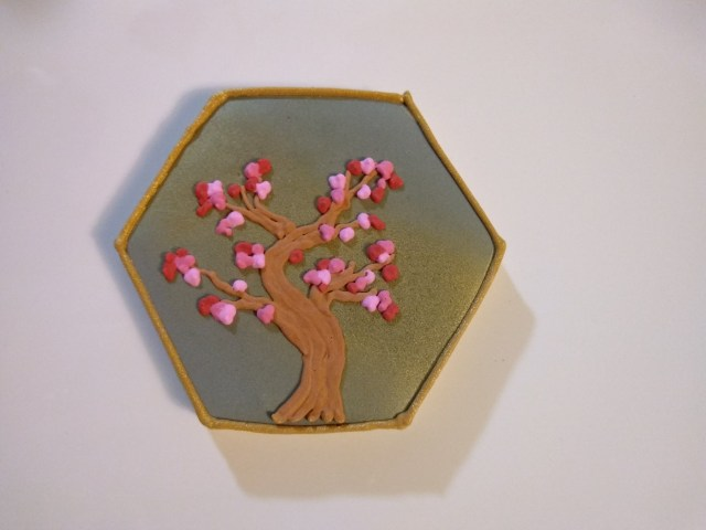 cherry blossom royal icing sugar cookie