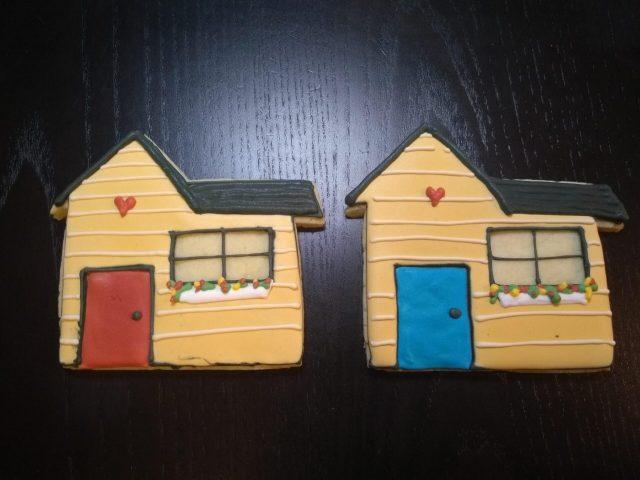 tiny home royal icing cookies