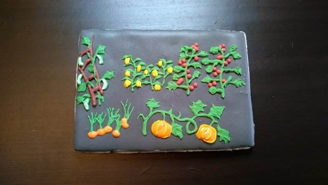 garden royal icing cookie