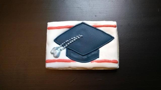 GI bill graduate dog tags royal icing cookie