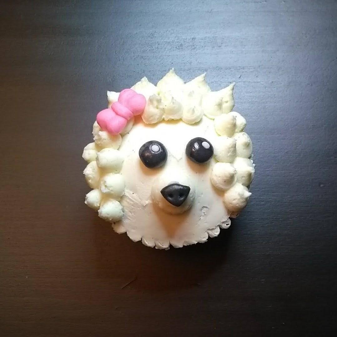 poodle dog cupcake