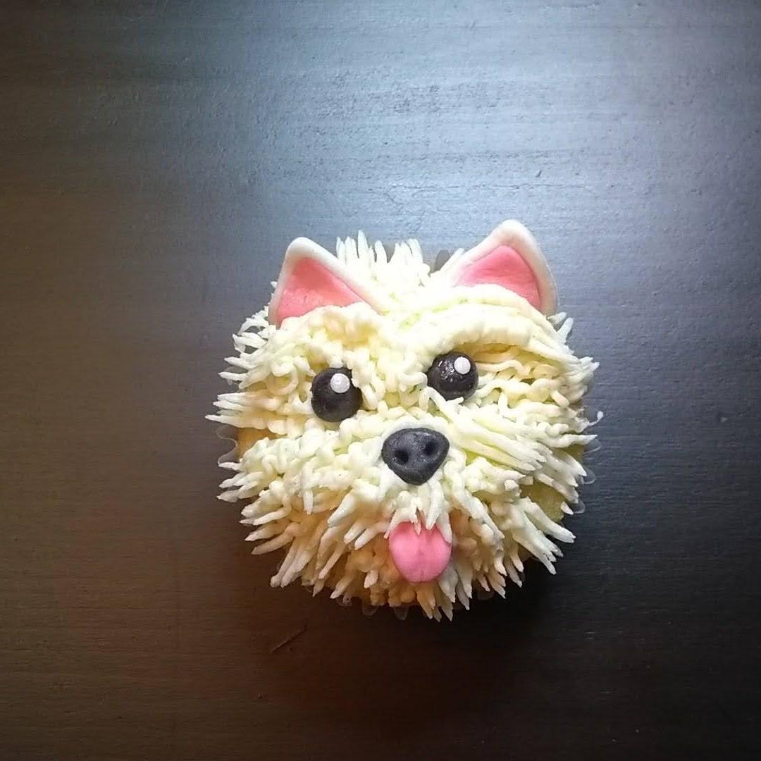 terrier dog cupcake