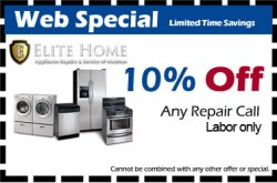 Appliance repair discount Coupon Special