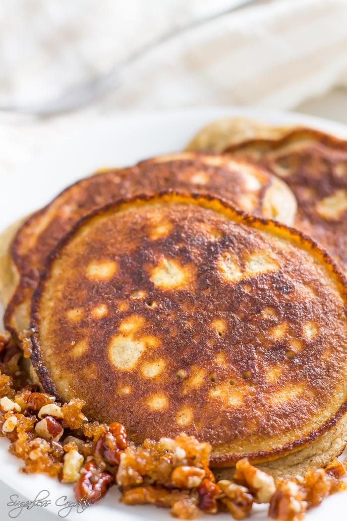 coconut flour pancakes with pecans