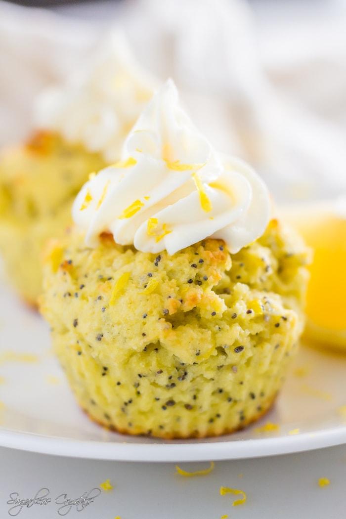 Keto Lemon Coconut Flour Cupcakes (Low Carb, Gluten Free, Sugar Free)