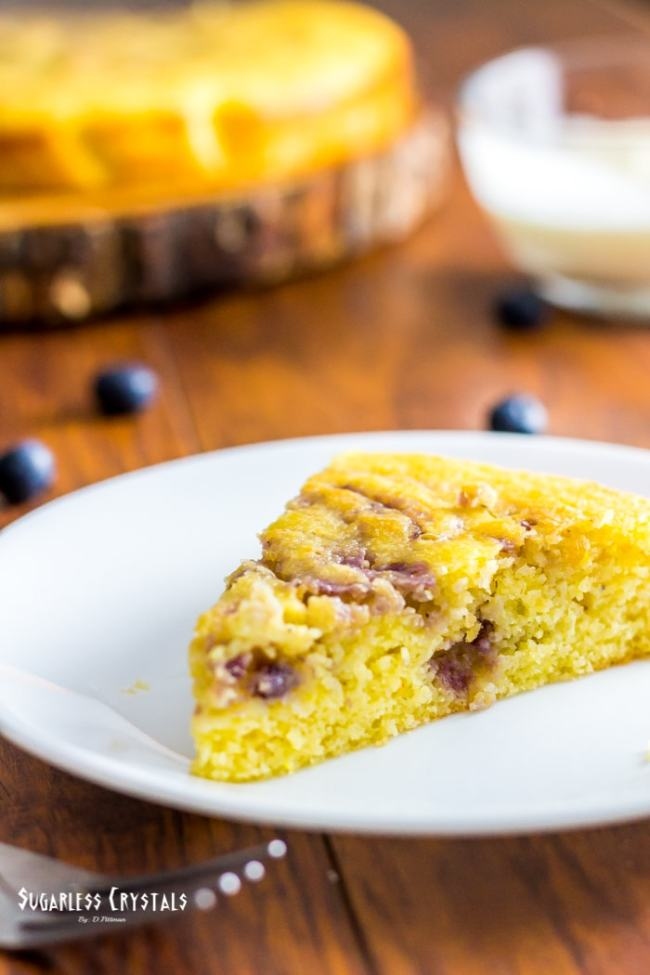 Low Carb Lemon Blueberry Cake Keto Sugar Free Gluten