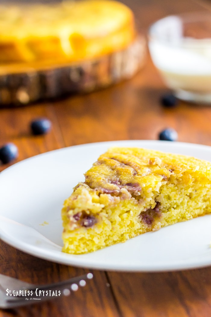 Low Carb Lemon Blueberry Cake (Keto, Sugar Free, Gluten Free)