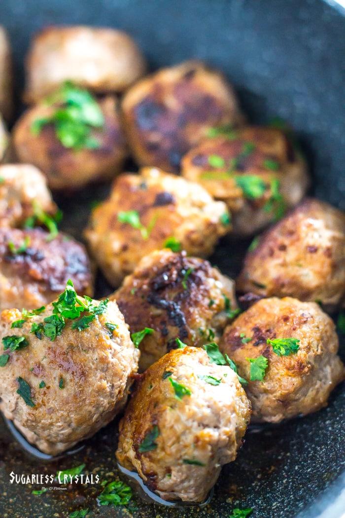 keto turkey meatballs plain without parmesan sauce