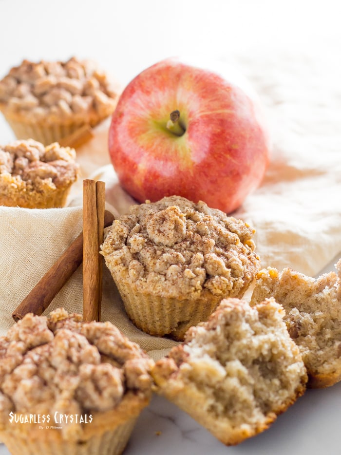 Low-carb Apple Cupcakes