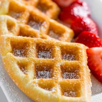 Easy Keto Waffle Recipe-Crispy & Not Eggy!