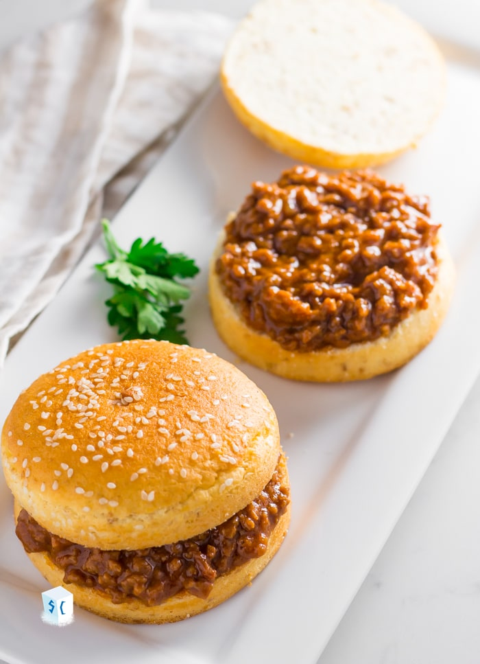 keto sloppy joes being served