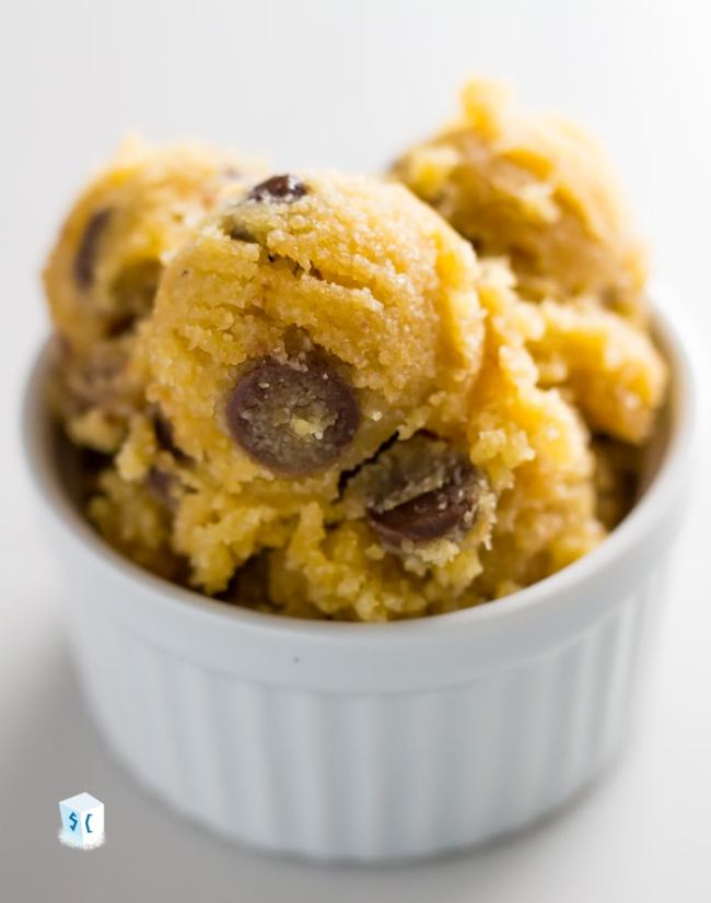 Real Chocolate Chip Keto Cookie Dough