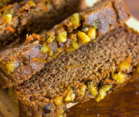 Keto Carrot Cake Coconut Flour Bread (Low Carb, Grain Free, Sugar Free)