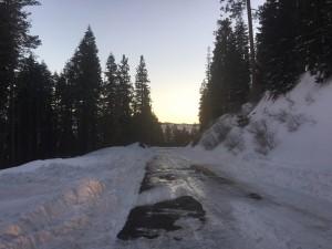 Turnaround on Sherman Pass Road.