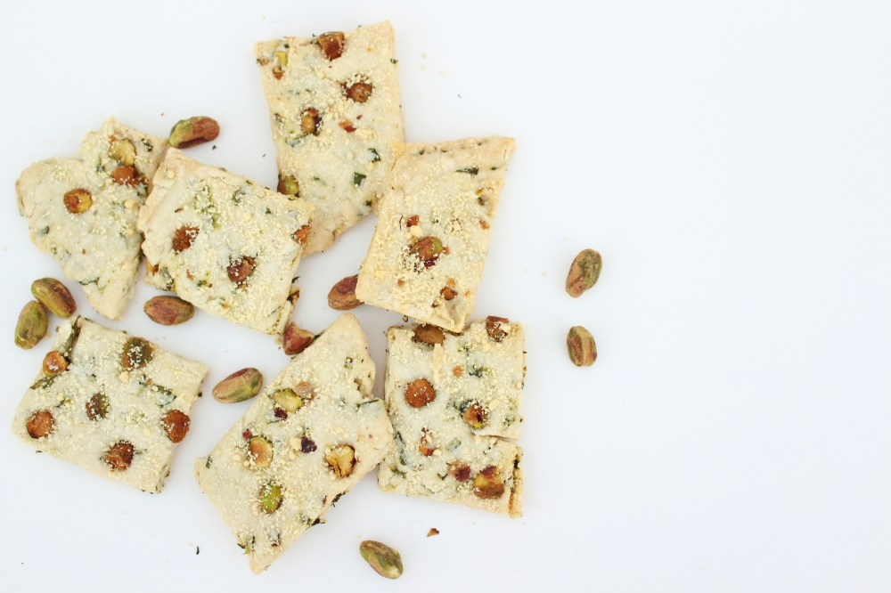 Chive and Pistachio Crisps 033