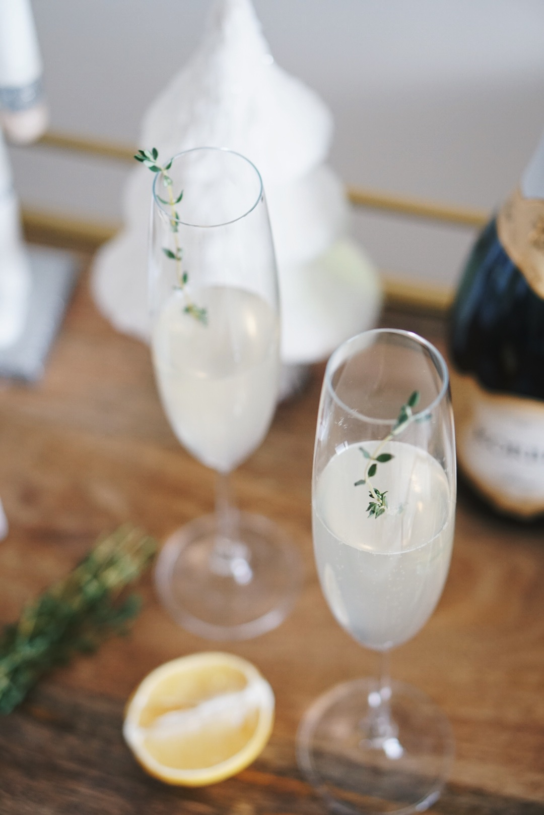 Pear & Thyme Prossecco Holiday Cocktail