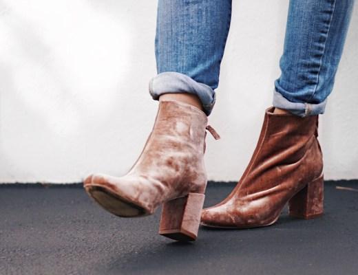 Style Roundup: Velvet Bootie Trend