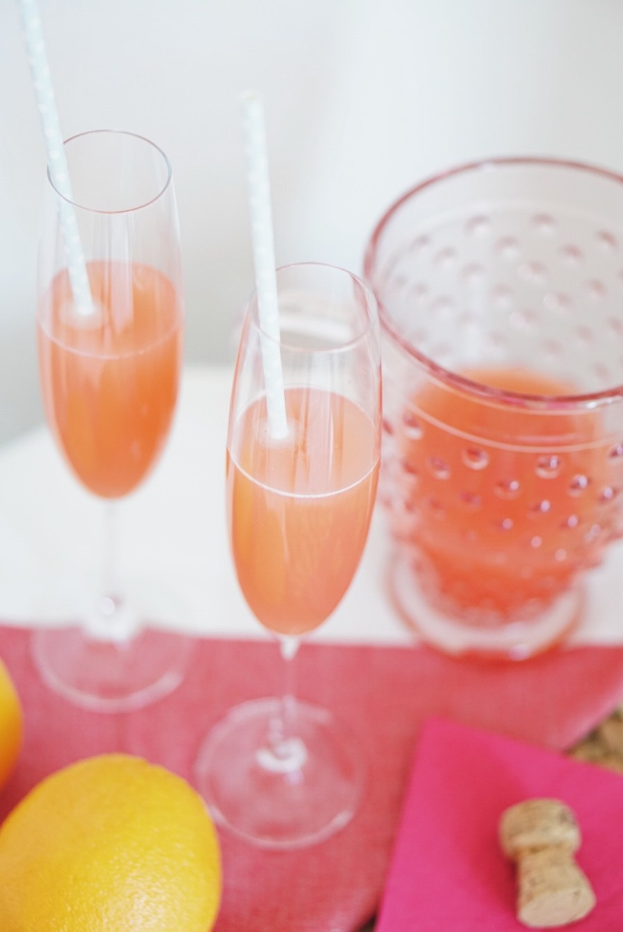 Guava Orange Champagne Cocktail