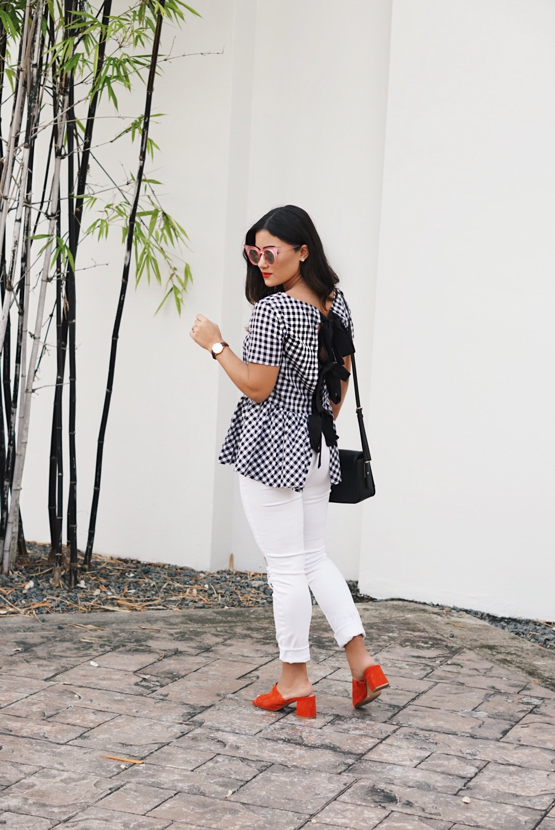 Sugar Love Chic blogger Krista Perez styles classic gingham summer outfit