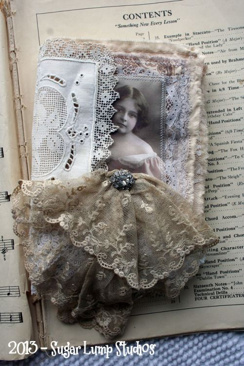 whispers&lace fabric book