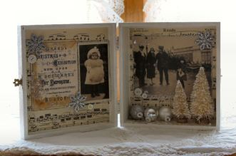Christmas Past Altered Cigar Box