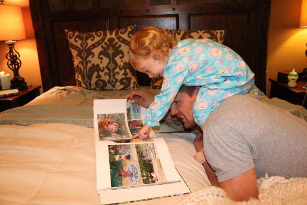 Shutterfly's new Make My Book Service Review - Making family memories last a lifetime with daddy and daughter!