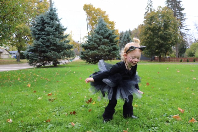 Black Cat Costume and DIY Tutu for Toddlers and Baby Girls