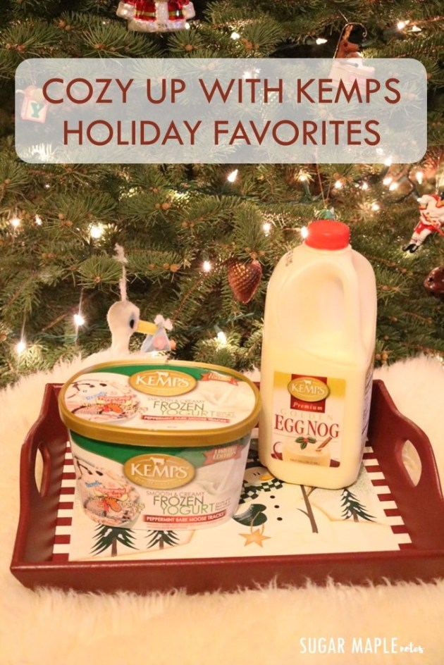 Cozy Up with Kemps Holiday Favorites | Moosetracks Peppermint Bark Ice Cream and Golden Eggnog