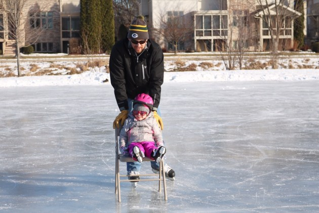 Surviving The Winter Blues - Skating with Dad